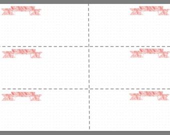 Weekly Planner Printable -Red