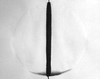 """A1 Large Size Modern Zen Abstract Hand Painted Black and White Ink Painting 23.4x33.1"""" Vol 965 """""""