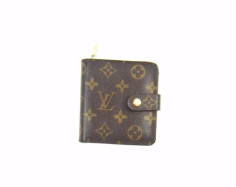 Louis Vuitton Brown Zippy Compact Clutch Monogram Canvas Leather Wallet