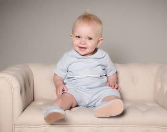 Louis Baby Boy Romper 100% Linen