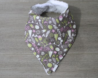 Baby Bandana Bib - Leaf & Acorn
