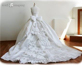 Cinderella Wedding Dresses, Ball Gown Wedding Dress, Custom Made in your size - Angela Style
