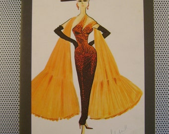 """Vintage 1983 """"40 Years of Italian Fashion"""" Drawings and Sketches of the Most Famous Italian Fashion Designers by Aragno Paperback Book"""