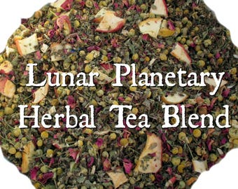 Lunar Planetary Herbal Tea Blend - loose leaf herbal tea, moon tea, dream tea, magical tea, lemon balm, mugwort, chamomile, dream work