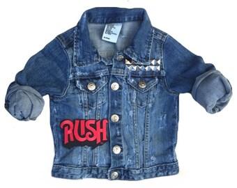 Jean jacket. Toddler jean jacket. Kids jean jacket. Patched jacket. Studded jacket. Girls jean jacket. Boys or Girls jean jacket. Denim.