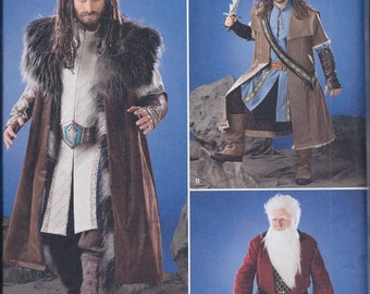 Simplicity 1552 Mens Medieval Game of Thrones Hobbit Costume Coat Gauntlets Boot Covers UNCUT Sewing Pattern