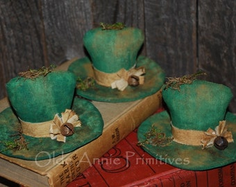 EPATTERN -- St. Patrick's Day Leprechaun Hat Tucks Ornies Bowl Fillers