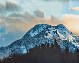 Washington State Landscape Print | Mountain Landscape Photography | Abstract Nature Print | Evergreen Trees | Wall Art | Large Wall Art