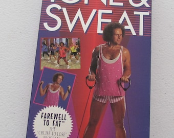 Richard Simmons Tone & Sweat, VHS Home Exercise Video, VHS 05-09387, 90s Home Aerobics