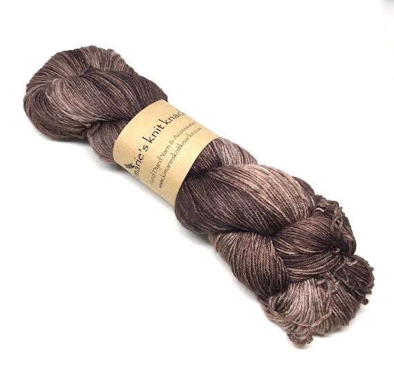 Hand Dyed Sock Yarn, Fingering Weight Yarn_Driftwood
