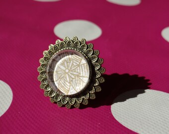 Flower Adjustable Ring