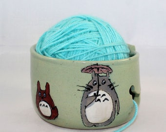 MADE TO ORDER - Totoro Ceramic Yarn Bowl