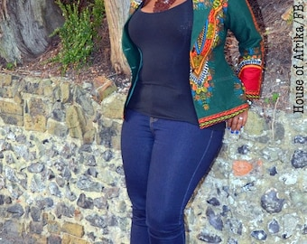 Dashiki Blazer - green. Enter code DASHIKI2 for 30% off