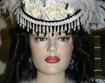 Victorian Hat, Riding Hat, Sidesaddle Hat, SASS Hat, Black Ivory Hat, Western Hat, Cocktail Hat, Kentucky Derby Hat - Spirit of Dodge City -
