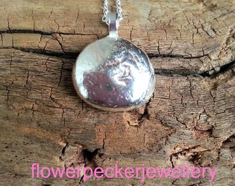 Pebble Pendant Recycled Sterling Silver Stone Pendant Stone Necklace Pebble Necklace Pebble Jewelry