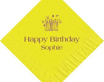 Birthday Napkins~100 Choose Your Design