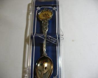 Vintage Las Vegas Souvenir Spoon in Original Box, 1984, Silver Plated