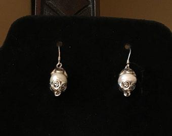 Large Pearl Earrings, Pearl Dangle Earrings, Pearl Wedding Jewelry, Pearl Anniversary Gift, Cultured Pearl Earrings, Pearl Earrings Dangle
