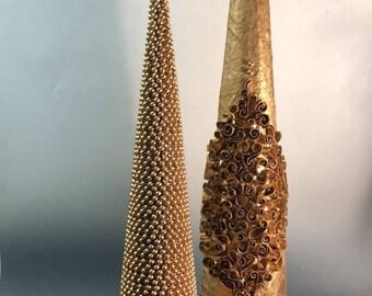 Handmade Ornate Gold Tree Set