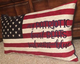 MADE TO ORDER patriotic pillow
