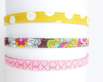 Headband for women   Pink and Mustard Yellow Adjustable Headband-Gift for Her- Under 10 gift