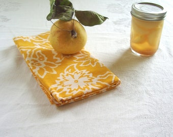 saffron gold batik tea towel