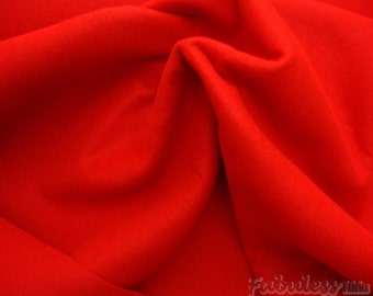 "Red Acrylic Felt 72"" wide made in USA Fabric by ysrd"