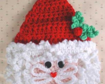 Santa Wall Hanging Crochet Pattern PDF