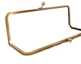 12 x 4 Antique Brass Purse Frame FREE U S SHIPPING