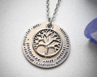 Fruits of the Spirit Stamped Necklace