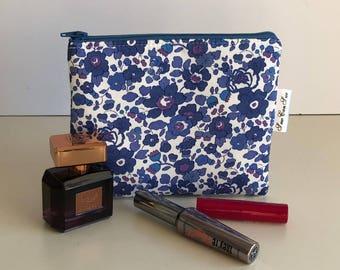 Liberty makeup bag - floral makeup bag - small makeup bag - beauty bag - makeup storage - zipped pouch - bridesmaids gift