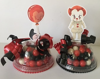Set of 8 empty Candy Containers party favors for it pennywise party