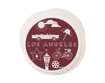 Los Angeles - Letterpressed City Paper Coasters