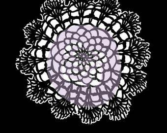 Prima Marketing Finnabair Stencil Lace Doily #1 Scrapbooking Mixed Media 6x6