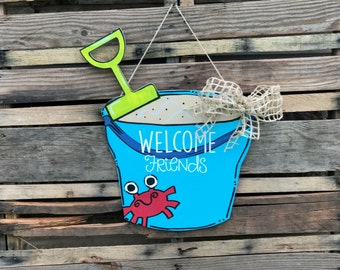 Finished Sand Pail Door Hanger , Finished Product
