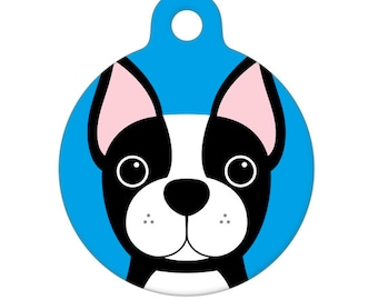 Pet ID Tag - Boston Terrier Pet Tag, Dog Tag