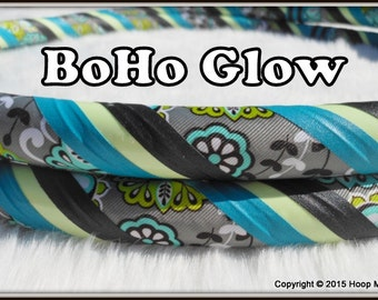GLoW in the Dark Travel Hula Hoop - 'BoHo GLOW' - Made YOUR Perfect Size.