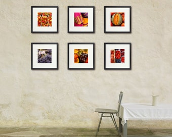 French Market Photos, Food Photography, Restaurant Art, Kitchen Wall Art, Cook, Chef, Set of Six