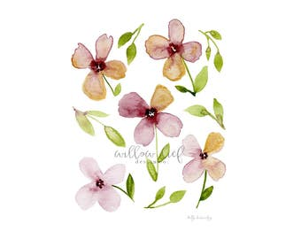 Flower patch  / Easter / Watercolor Print / Easter
