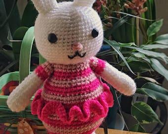 Jenny the Ballerina Bunny - Crocheted Bunny - Stuffed Animal - Bunny Amigurumi