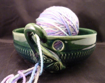 WheelWorksPottery - Yarn Bowl - Dual Function - Celtic Lore