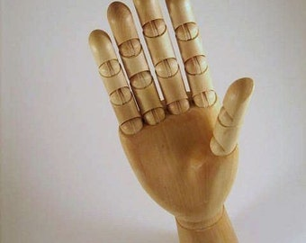 12  inch Wooden Mannequin DISPLAY HAND LARGE - Manikin New