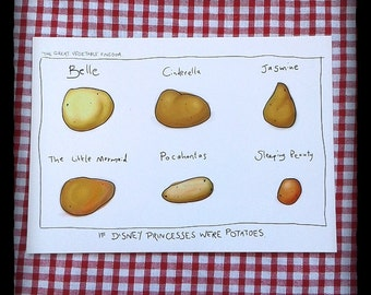 Potato Princess Postcard