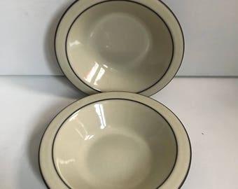 Two Hornsea Cornrose Bowls 6.5 inches Diameter