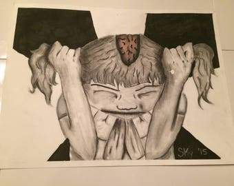 Cry Out Mixed Media Drawing