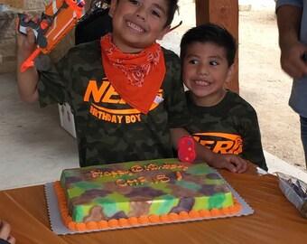 Nerf Inspired Neon Orange birthday shirt!