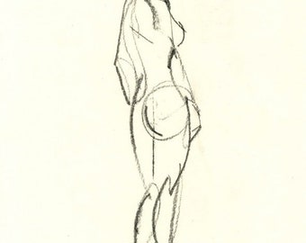Gesture study 291 Original drawing  7.5 x 10.5 inches