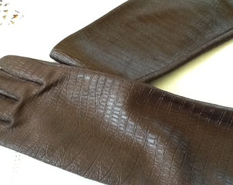 Opera Glove- Soft Fabric that Looks Like Crocodile Skin