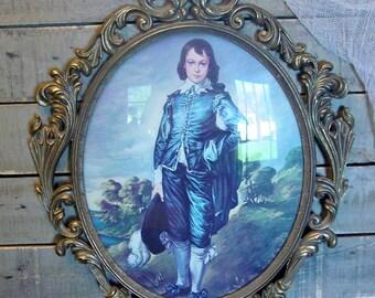 Vintage Metal Frame - Ornate Frame - Large Ornate Frame - Large Metal Frame - Baroque - Hollywood Regency Frame - Blue Boy Frame