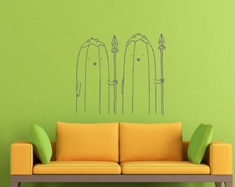 Banana Guards Adventure Time Finn Jake Wall Decal Stiker Mural Cartoons AD0322